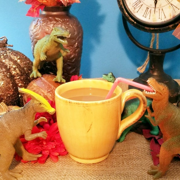 Dinosaurs Slurping Coffee - Autumn | Ms. Emily's Home for Full-Grown Nerds