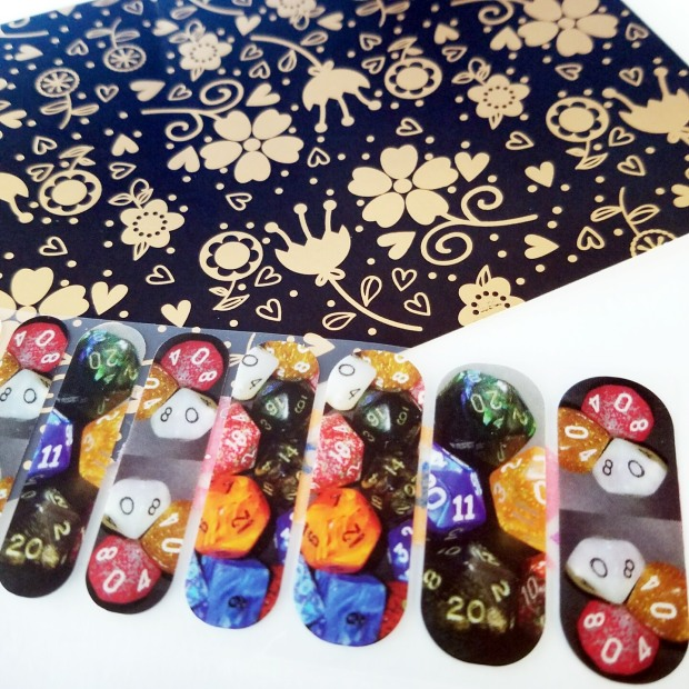 Three Things Thursday: Dice Nails from Eclectic Alli | Ms. Emily's Home for Full-Grown Nerds